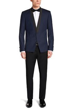 Extra-slim-fit dinner jacket in stretchy new wool: 'Alerius'