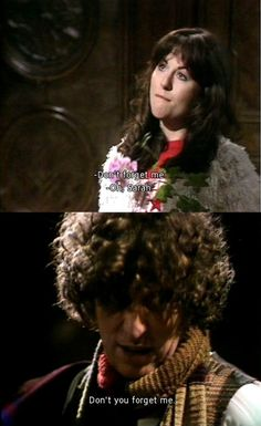 4th doctor and Sarah Jane.