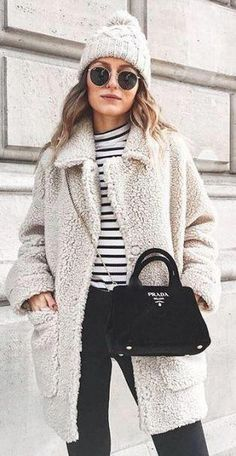 61e0de48e This teddy coat outfit idea is so cute for winter! #cutewinteroutfits  Fashion For Winter