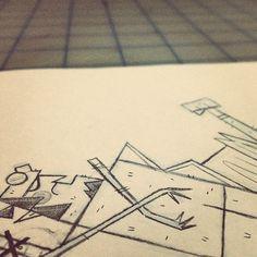 Hellboy Sketch, Andrew Kolb