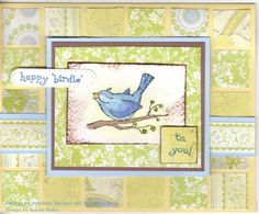 by Karen Stamps! - Cards and Paper Crafts at Splitcoaststampers Tombow Markers, You Are Cute, All Birds, Basic Grey, Petunias, Blue Bird, Little Girls, Stamps, Sunshine