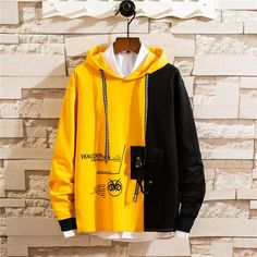 Men Colorblocked hooded sweater - Source by Inspiratoner - Hooded Sweater, Sweater Jacket, Stylish Hoodies, Mens Fashion Sweaters, Hoodie Outfit, Pullover, Cute Outfits, Emo Outfits, Summer Outfits