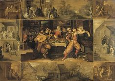 1600-1620, Frans Francken the Younger (1581-1642) The story of the prodigal son,oil on panel,61×85cm, Rijksmuseum Amsterdam