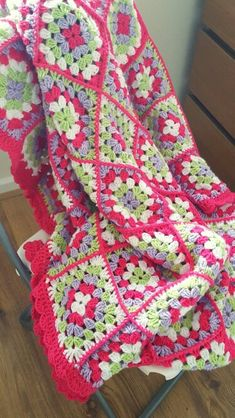 Mothers day granny square blanket