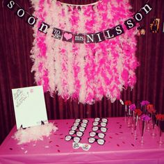 Bachelorette Party!! Stagette!! Feather backdrop. Team Bride sunglasses. Stagette Smooche Board. Party Lips straws. Team Bride, Something Blue, Maid Of Honor, Backdrops, Wedding Planning, Birthday Cake, Bachelorette Ideas, Party Ideas, Gift Ideas
