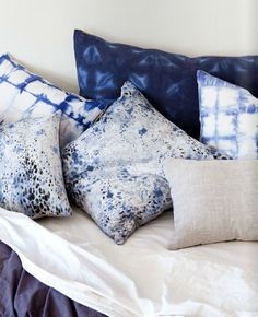 Anthology Magazine | Textiles | Rebecca Atwood ... ALL OF THE INDIGO PILLOWS