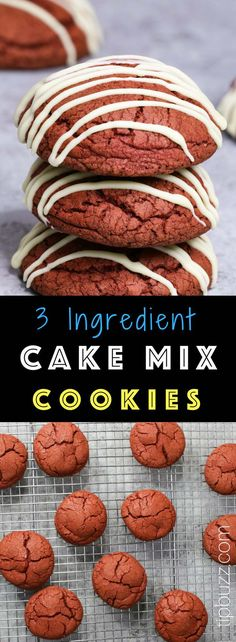 These Cake Mix Cookies are soft, moist and so delicious! You only need 3 ingredients to make them and nobody will know you used a cake mix. There are endless flavor combinations that make them so much fun for a party! Brownie Mix Recipes, Recipes Using Cake Mix, Cake Mix Cookie Recipes, Cake Mix Cookies, Cake Mixes, Cookie Ideas, Desserts For A Crowd, Easy Desserts, Delicious Desserts