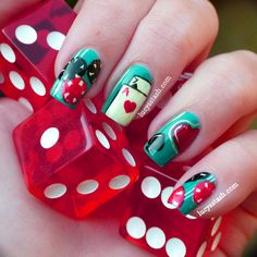 Lucy's Stash: Casino themed nail art featuring OPI, A England and Nails Inc