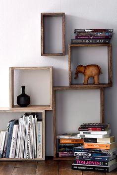 Ellos Home Kubehylle Nisse Naturbeige, Brun, Svart - Hyller Bookshelves, Bookcase, Hallway Inspiration, Wooden Books, Cosy Corner, Grand Designs, Getting Organized, Floating Shelves, Playroom