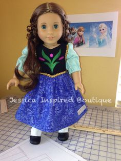 Frozen Inspired Princess Anna Doll Dress - Anna Doll Dress on Etsy, $35.00