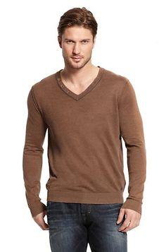 V-neck Linen 'Abun' Sweater by BOSS Orange