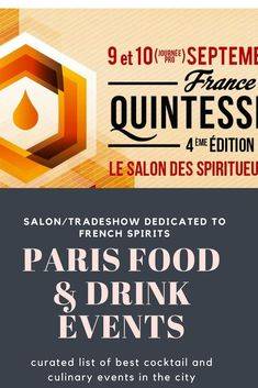 Salon and tradeshow dedicated exclusively to French spirits.  #spirits #alcool #alcohol #french #france #local #cocktails #mixology #paris #events #tradeshow #salon #drinks
