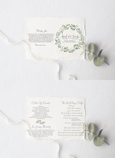 Wedding Program DEPOSIT DIY Rustic Foldable by SplashOfSilver
