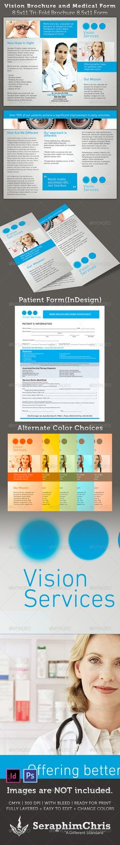 Vision Brochure and Medical Form Template - $8.00
