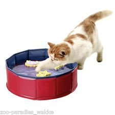 Karlie Kitty Lake mit 3 Spielzeugen, 30 cm x 10 cm Pvc Pool, What Cat, Air Hockey, Plastic Laundry Basket, Pet Health, Cat Toys, Cat Breeds, Cool Cats, Dog Bowls