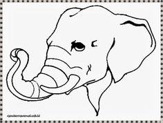 mewarnai gambar kepala gajah