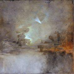 Elisabeth Couloigner: Uchronie - 70x70 cm