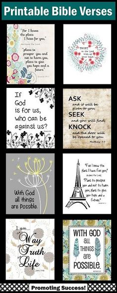 Bible Verse Art Prints: We have over 200 posters in our shop to compliment your Christian decor. These are high resolution JPEG files to print as 8x10, 16x20 or 24x30. You may print yourself, upload to an online company or save on a jump drive and take