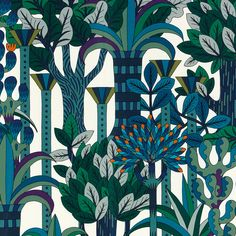 Tessuto d'arredamento in seta Jardin d'osier. Foto ArtofCol