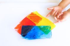 Colour mixing with gel baggies.