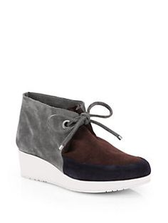 Robert Clergerie - Suede Lace-Up Ankle Boots