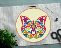 Brilliant Cross Stitch Embroidery Tips Ideas. Mesmerizing Cross Stitch Embroidery Tips Ideas. Cross Stitch Sea, Cross Stitch Geometric, Simple Cross Stitch, Modern Cross Stitch Patterns, Cross Stitch Charts, Cross Stitching, Cross Stitch Embroidery, Embroidery Patterns, Cat Mandala