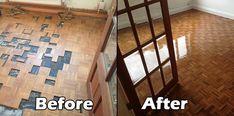 Loughton Finger Mosaic Teek and Stairs restoration - Gallery of Wood Flooring Projects - BSI Flooring