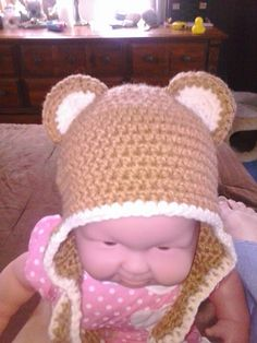 Ravelry  Super Cuteness Bear Ears free crochet pattern.Was looking for a  ear pattern f78241321096