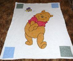 Disney's Winnie the Pooh Hand Crocheted Afghan Throw -REALLY REALLY CUTE-. $115.00, via Etsy.