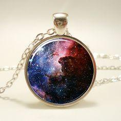 Carina Nebula Necklace, Galaxy Jewelry, Universe Pendant (1168S1IN). $14.45, via Etsy.