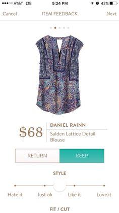 Daniel Rainn Salden Lattice Detail Blouse - I need this in my life!