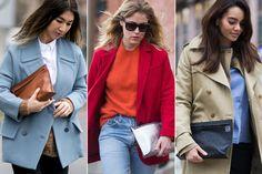 bolsos loewe Red Leather, Leather Jacket, Jackets, Style, Fashion, Pockets, Trends, Women, Studded Leather Jacket