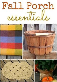Simple and creative ideas for decorating your Fall Porch.