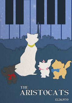 The Aristocats My Favorite Disney Movie Arte Disney, Disney Fan Art, Disney Love, Disney Magic, Disney Minimalist, Minimalist Poster, Disney Cats, Disney Cartoons, Disney And Dreamworks