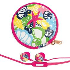 Lilly Pulitzer Ear Buds & Pouch - Chiquita Bonita - Lilly Pulitzer - Seasons Gifts and Home Lilly Pultizer, Maybelline Mascara, Nursing Supplies, Nursing Shoes, Back To School Supplies, Lifeguard, Tech Accessories, Pouch, Kids Rugs