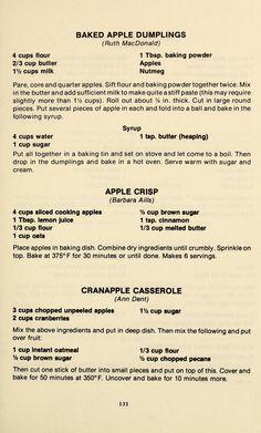 Retro Recipes, Old Recipes, Vintage Recipes, Cookbook Recipes, Apple Recipes, Baking Recipes, Cake Recipes, Baking Ideas, Recipes