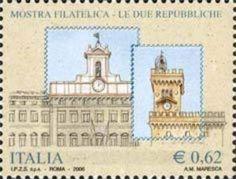 Montecitorio palace and Public palace on Mount Titano