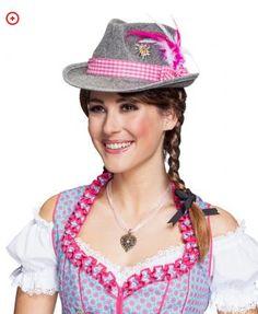 Baijerilais-hattu pinkki Captain Hat, Band, Products, Oktoberfest Costume, Dirndl, Carnavals, Sash, Ribbon, Bands