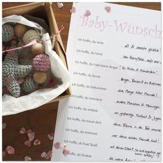 Babyshower spiele babyparty Geschenk Spiel Baby-Wünsche Babyparty deko www.pickposh.de