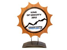 Crankworx 2012 Whistler competition King of Gravity gold trophy web Custom Trophies and Medals