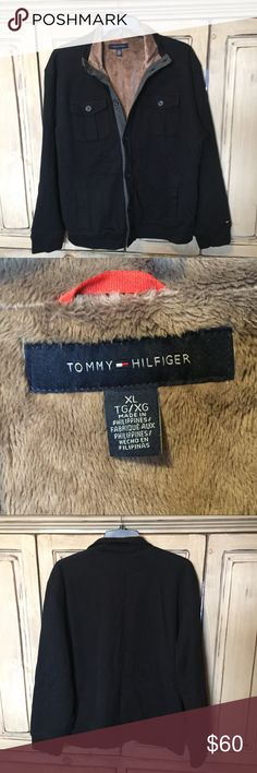 Tommy Plush Fur Lined Button Up Sweater Jacket LIKE NEW! Excellent Used Condition! Tommy Hilfiger Jackets & Coats