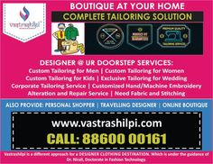 Your Alteration Tailor in Delhi NCR for Online Alteration Service Right Here at Vastrashilpi