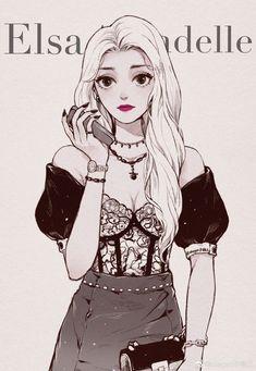 Disney Princess Art, Disney Princess Pictures, Disney Fan Art, Disney Love, Disney Pixar, Cute Couple Cartoon, Girl Cartoon, Cartoon Art, Anime Girl Cute