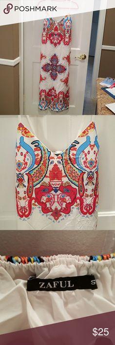 Long summer dress, NWOT, size S Beautiful long summer dress in size small. Never worn,  NWOT. ZAFUL Dresses