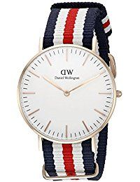 Women's 0502DW Classic Canterbury Stainless Steel Watch With Multi-Color Striped Band * Click on the image for additional details.
