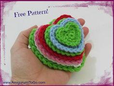 written pattern here http://www.amigurumitogo.com/2014/02/free-crochet-heart-pattern.html