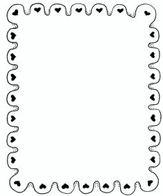 Borders Books, Borders And Frames, Borders For Paper, Page Borders Design, Border Design, Bullet Journal Ideas Pages, Journal Pages, Heart Border, Doodle Frames