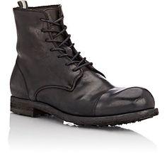 Christian- $615 Officine Creative Cap-Toe Double Boots - Boots - Barneys.com