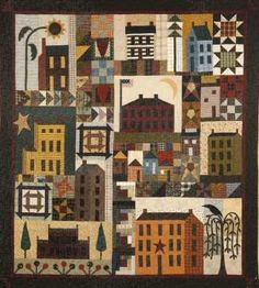What a great house block quilt!