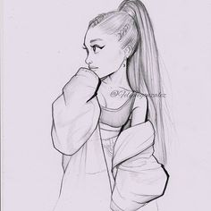 did this lil cartoon of ari yesterday, Im not fe. - I did this lil cartoon of ari yesterday, Im not fe. - I did this lil cartoon of ari yesterday, Im not fe. Girl Drawing Sketches, Girly Drawings, Cool Art Drawings, Pencil Art Drawings, Disney Drawings, Cartoon Drawings, Cartoon Art, Easy Drawings, Ballet Drawings